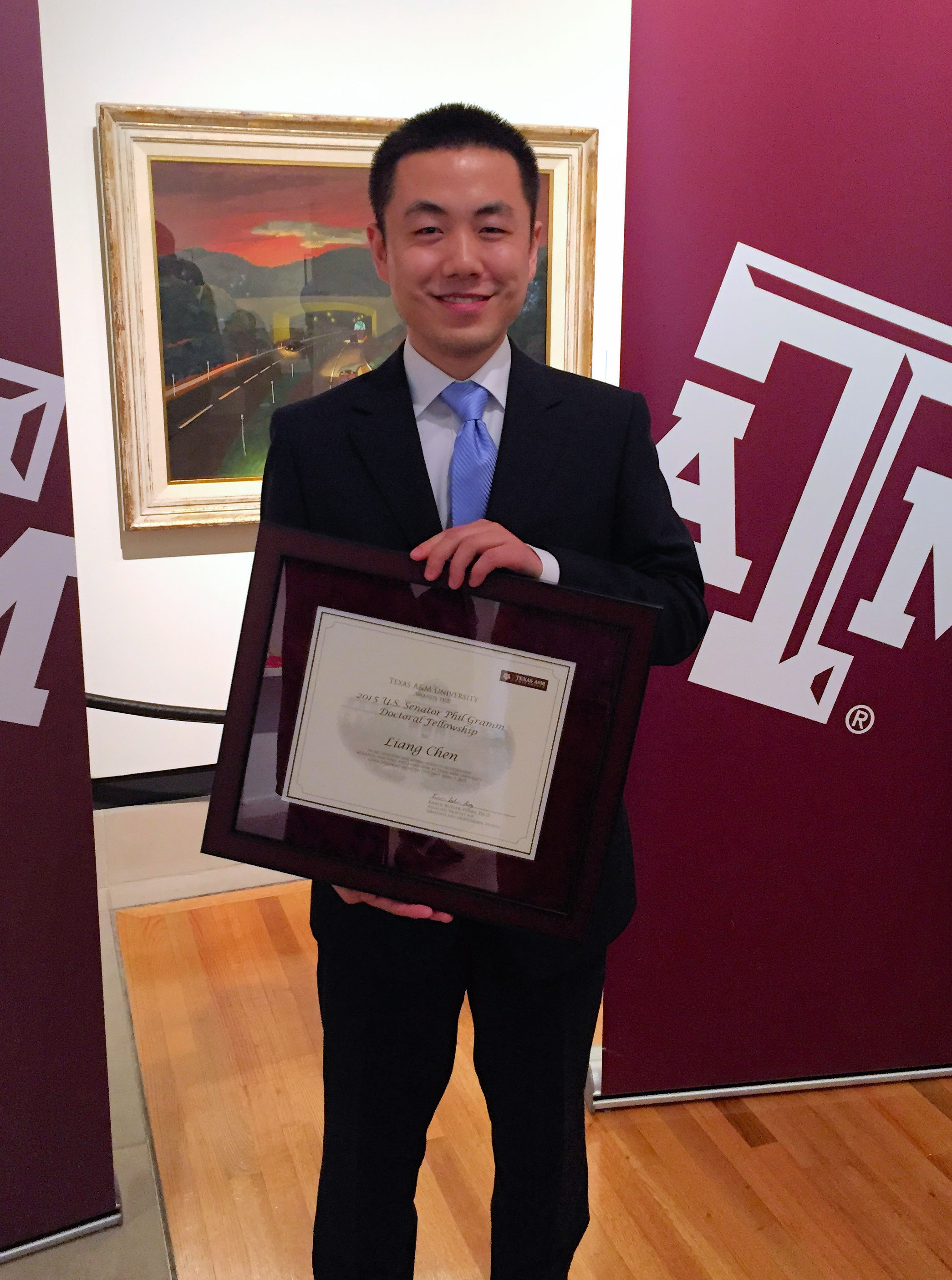 Liang Chen Wins Paper of the Year Award